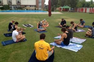 UCT Hungary Tour 2014 Yoga