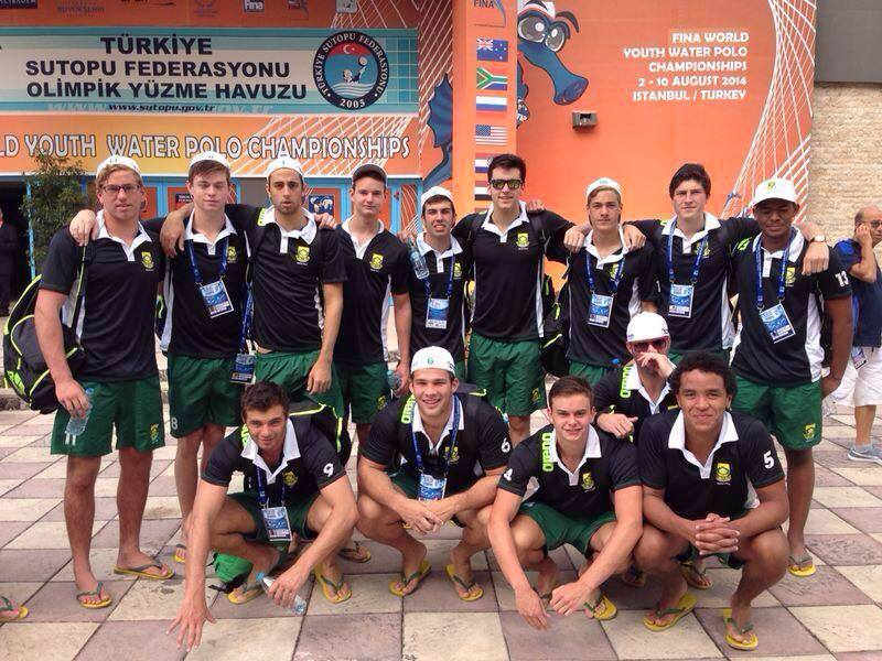 SA Youth Mens Waterpolo team after Brasil game