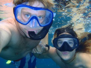 Thomas and Tarryn King Snorkeling