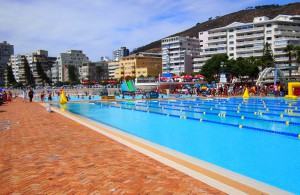Western Province Aquatics carnival 2015 spectacular setting Seapoint