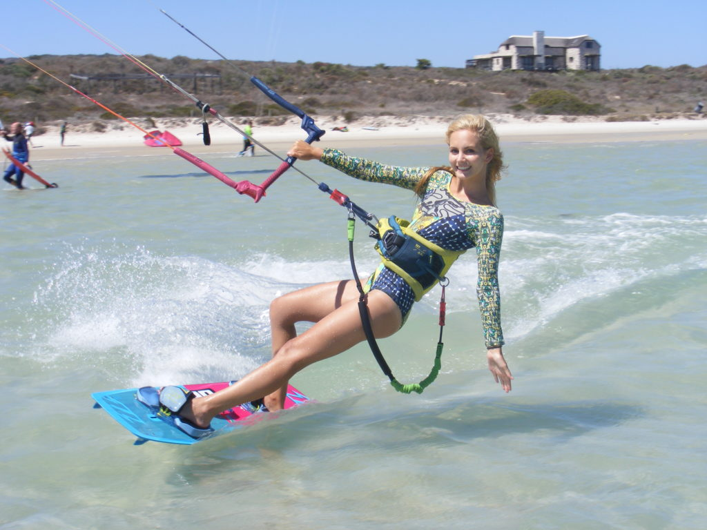 MichelleSkyHayward kite surfing