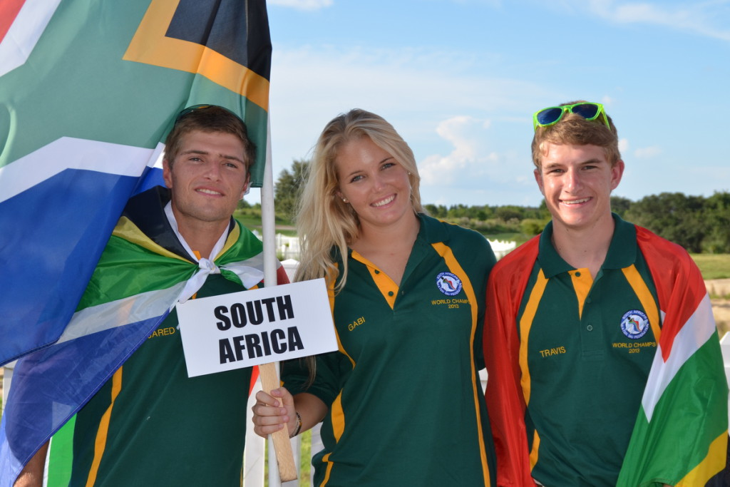 SA Team - Under 21 World - Travis Right, Jared Left, Gabi Viloen - Middle
