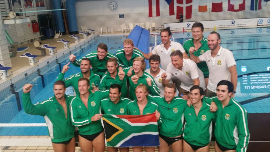 South Africa Mens first international water polo win