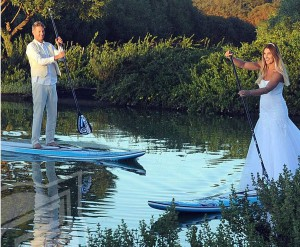 Thomas and Tarryn Wedding on SUP's courtesy of Coreban
