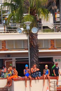 Western Province Aquatics carnival 2015 spectators enjoying ice cream