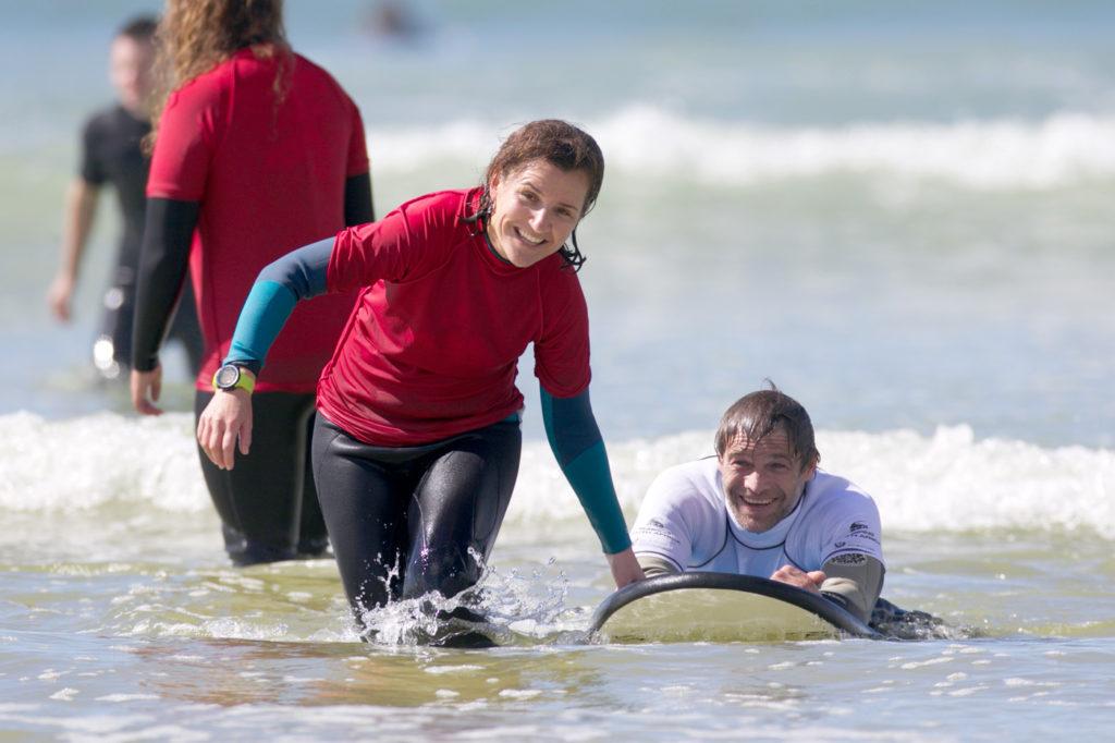 Adaptive Surfing Volunteers